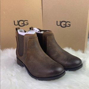New UGG Leather Ankle Booties 7.5